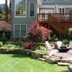 before and after backyard landscaping reston virginia