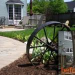 before and after backyard stone walkway landscaping ashburn virginia