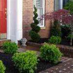 residential porch bushes great falls virginia