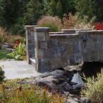 stone bridge and walkway front yard landscaping great falls virginia