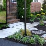 before and after front stone walkway landscaping northern virginia
