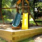 before and after backyard playground landscaping northern virginia