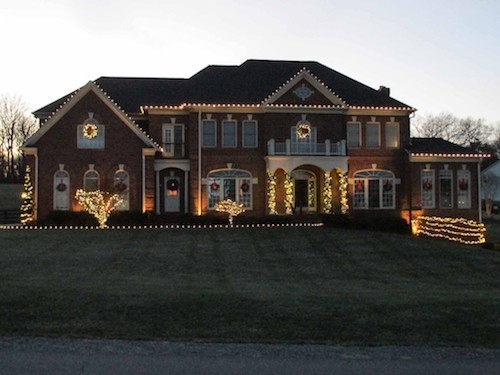 house with outside holiday lighting design northern virginia