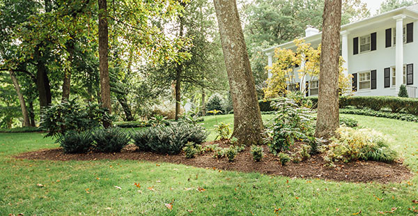 Northern Virginia landscape mulching by Sunrise Landscape and Design