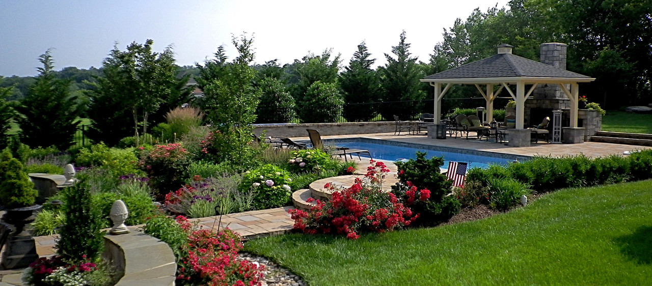 Backyard design outdoor living space Northern Virginia