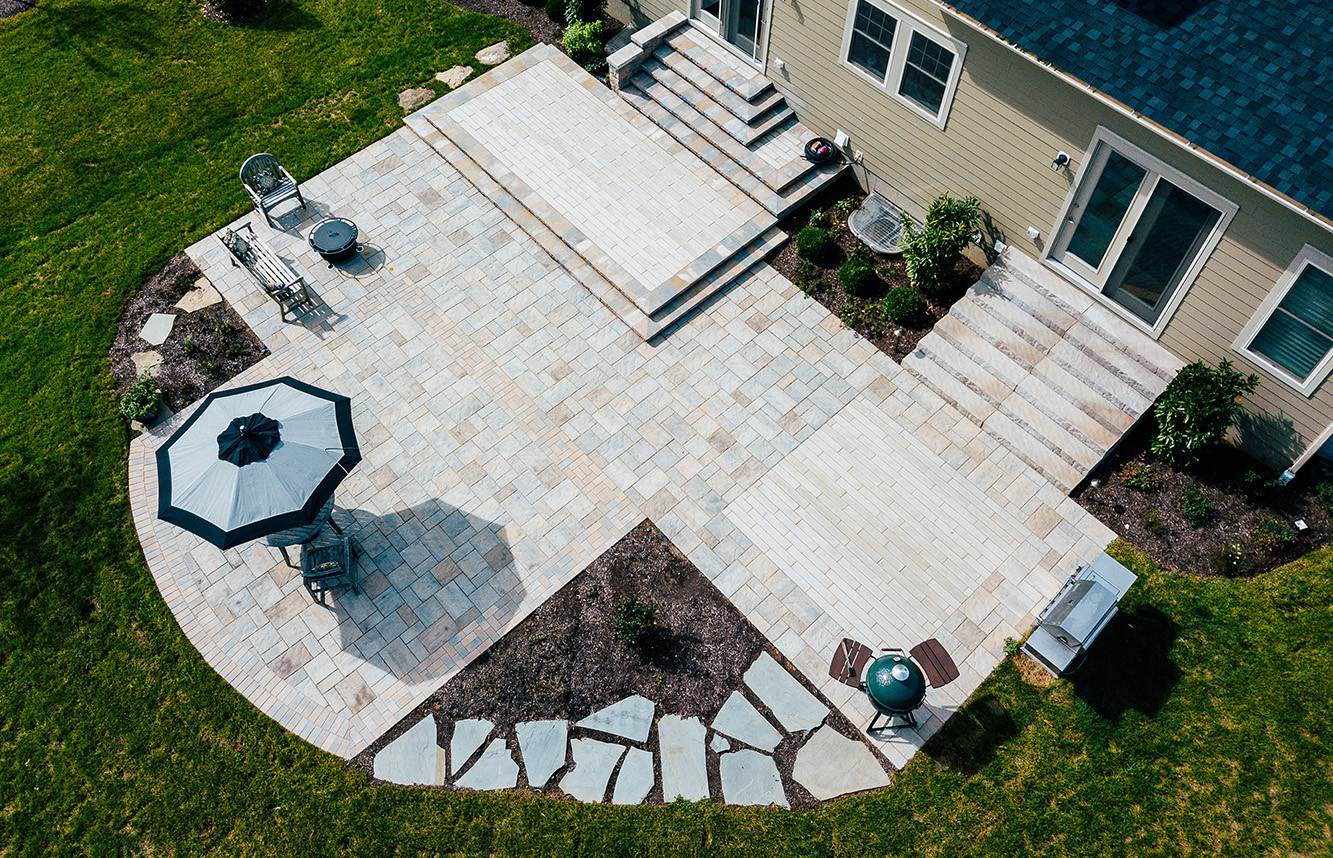 custom stone patios in great falls, leesburg, willowsford