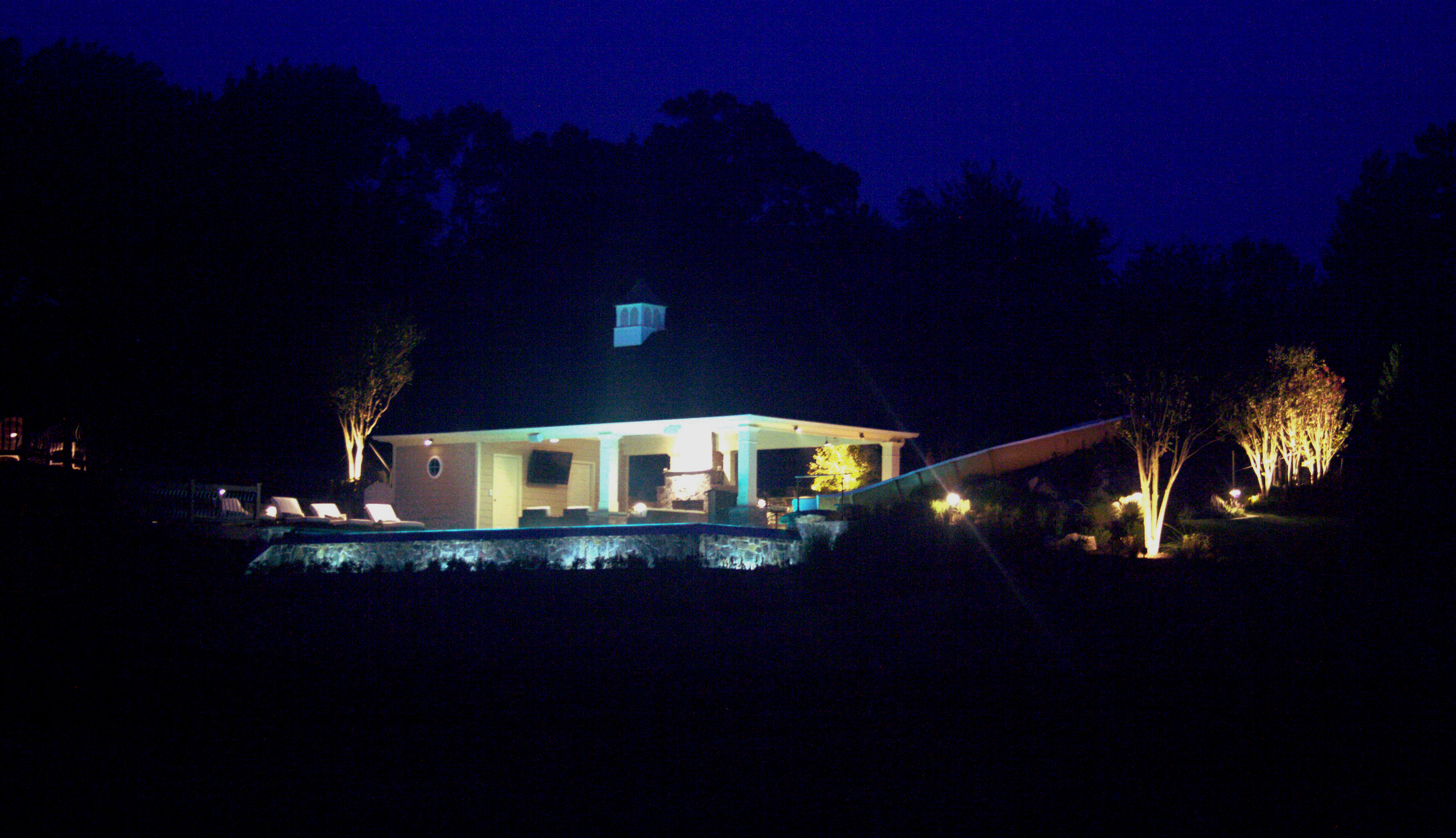 Landscape lighting Reston Leesburg Northern Virginia